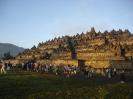 Turistas en Borobudur